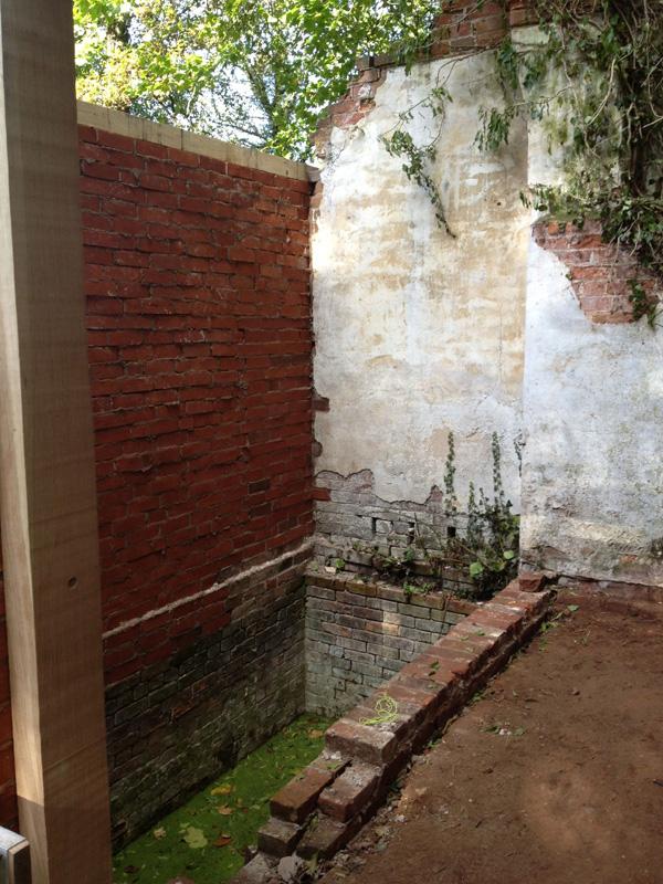 Bath House Pool Wall Rebuilt